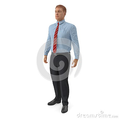Free Office Worker Standing Pose 3D Illustration On White Background Royalty Free Stock Photos - 127241758