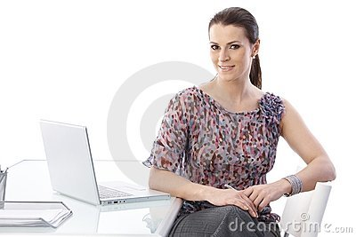 Office worker woman at desk