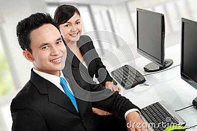 Office worker working