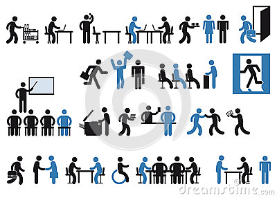 Office workers pictogram