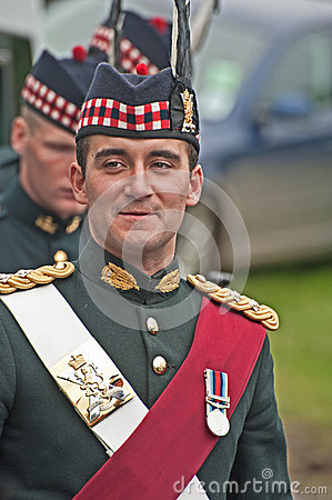 Officer in charge of protection at Braemar Editorial Photography
