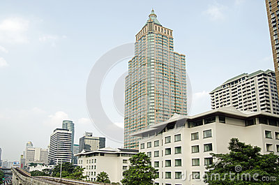 Offices and apartments, Lumpini district, Bangkok