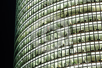 Offices of Deutsche Bahn Tower in Potsdamer Platz Editorial Photo