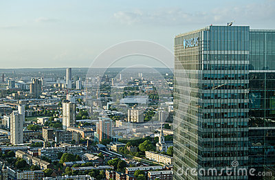 Offices and Houses, East London Editorial Stock Photo