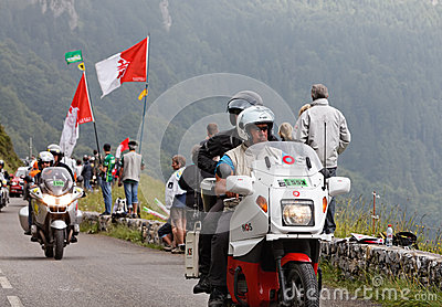 Official bikes during the Tour of France Editorial Photo