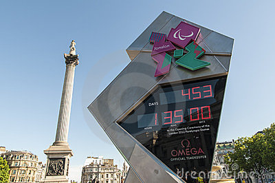 Official countdown clock for the Olympic and P Editorial Image