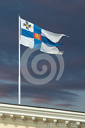 The official flag of Finland s President