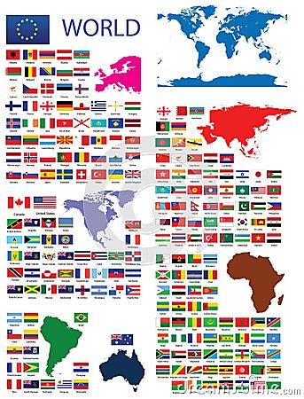 Official flaggor av världen