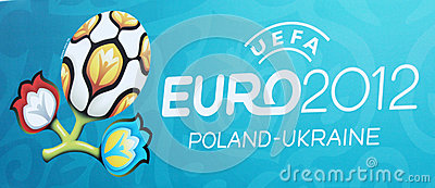Official Logo of Euro 2012 Editorial Photography
