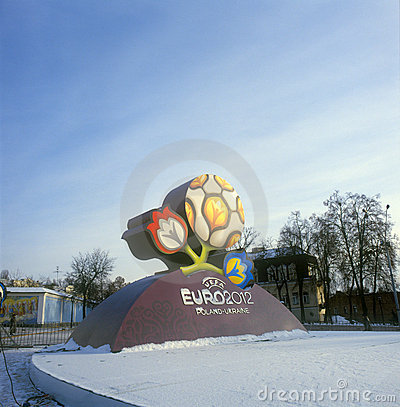 Free Official Logo For UEFA EURO 2012 Royalty Free Stock Images - 12312619