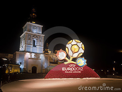 Official logo for UEFA EURO 2012. Editorial Stock Image