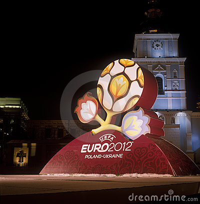 Official logo for UEFA EURO 2012. Editorial Image