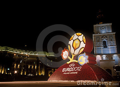 Official logo for UEFA EURO 2012 Editorial Stock Image