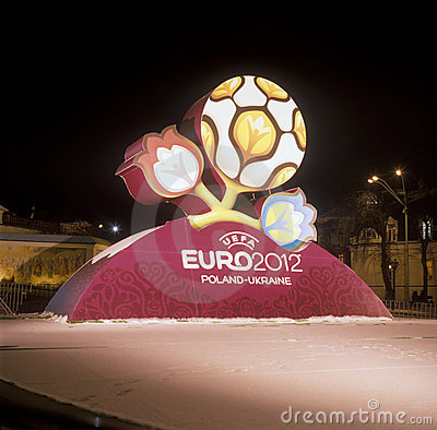Official logo for UEFA EURO 2012 Editorial Photography