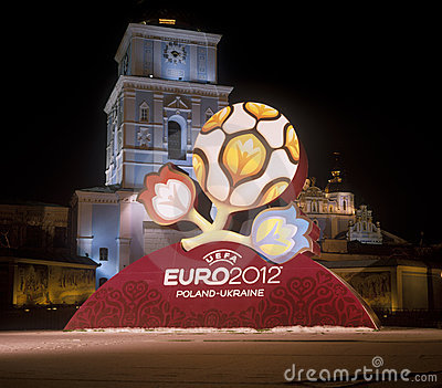 Official logo for UEFA EURO 2012 Editorial Image