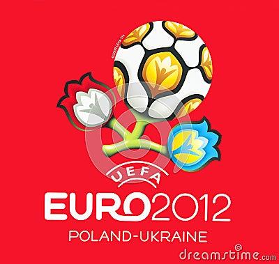 Official logo for UEFA EURO 2012 Editorial Photo