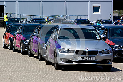 Official London OS 2012 BMW 5 serie. Redaktionell Foto