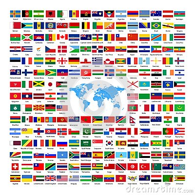 Free Official National Country Flags 2019 Royalty Free Stock Photos - 100178218