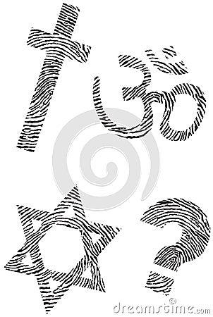 Official religion and fingerprint