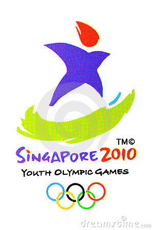 Official Youth Olympic Games logo Editorial Stock Photo