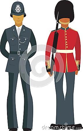 Officiers britanniques mignons