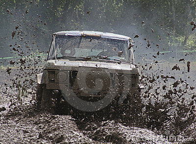 Offroad car driving
