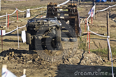 Offroad jumping car