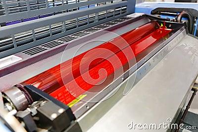 Offset printing machine - magenta ink