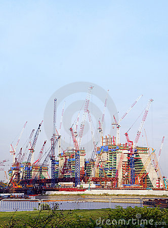 Offshore constructions site