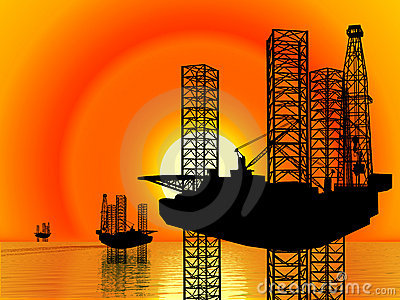 Offshore Drilling Rig-Oil Well