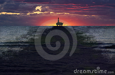 Offshore Drilling Well Oil Spill, Slick, Pollution