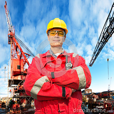 Free Offshore Engineer Royalty Free Stock Photo - 25060435