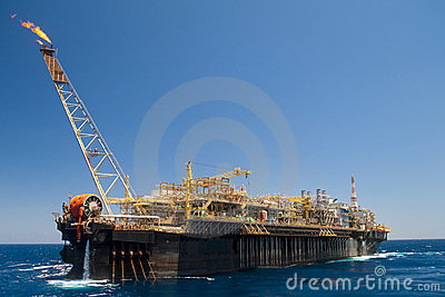 Offshore FPSO oil rig