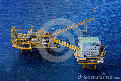 The offshore oil rig platform