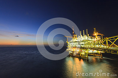 Offshore platform Stock Photo