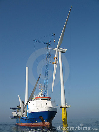 Free Offshore Wind Turbine Installation Stock Images - 4559474