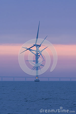Offshore windfarm Lillgrund, Sweden Editorial Stock Photo