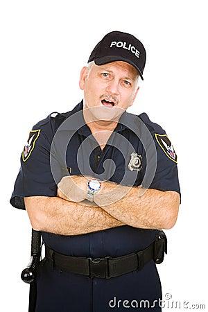 Oficial de polícia - espantado