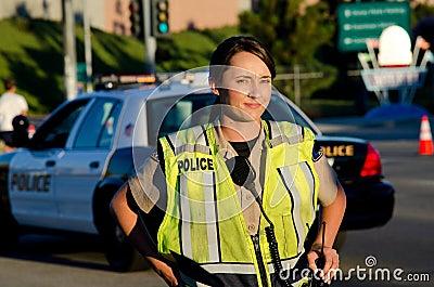 Oficial de polícia fêmea