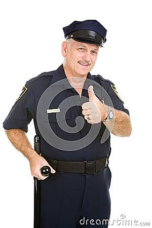 Oficial de polícia ThumbsUp