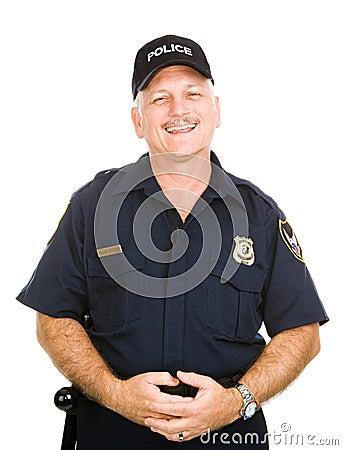 Oficial de policía cómodo