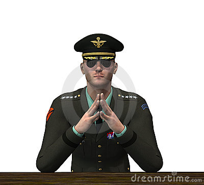Oficial do exército - pondering