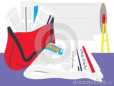 Oficina de impresión y personal de editorial