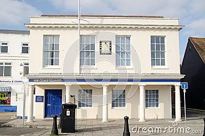 Oficina del guardacostas, Poole, Dorset Foto de archivo editorial