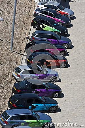Oficjalny Londyn 2012 Olimpijskich BMW 5 serii. Fotografia Editorial