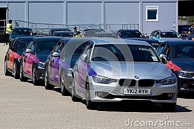 Oficjalny Londyn 2012 Olimpijskich BMW 5 serii. Obraz Editorial