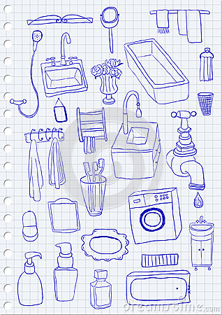 oggetti del bagno