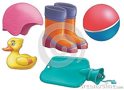 oggetti di gomma fotografia stock immagine 5056360