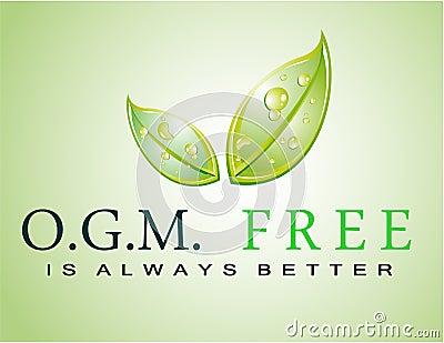 OGM free slogan