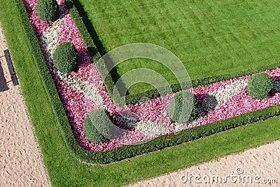 Ogród kształtował teren